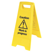 Caution Work in Progress A-Frame Safety Sign 680 x 300mm