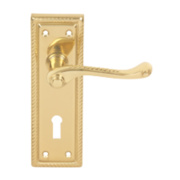 Georgian External Door Pack Pair Polished Brass