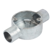 25mm 2 Way Galvanised Conduit Box