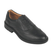 City Knights Brogue Executive Safety Shoes Black Size 6