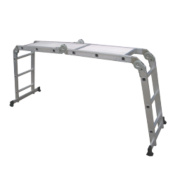 Multipurpose Ladder with Platform 4-Section 4 x 3 Rungs 3.34m