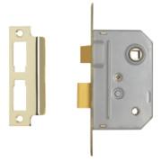 Century Bathroom Mortice Lock Brass 22 x 64mm