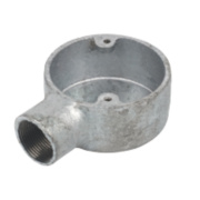 25mm 1 Way Galvanised Conduit Box