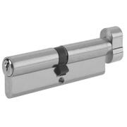 Yale 6-Pin Euro Cylinder Thumbturn Lock 35-35 (70mm) Satin Nickel