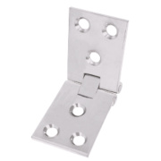 Counter Flap Hinge Satin Chrome 102 x 38mm Pack of 10