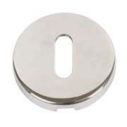 Standard Keyway Escutcheon Polished Aluminium 52mm Pack of 2