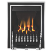 Focal Point Excelsior Gas Fire 180mm Antique Chrome 3.75kW