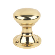 Jedo Lever on Rose Door Handle Pair Polished Brass 46mm
