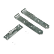 Gate Hinges Straight Hook & Band Pack Spelter Galvanised 40 x 275 x 140mm