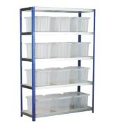 Barton Ecorax Shelving Silver/Blue 1200 x 450 x 1800mm