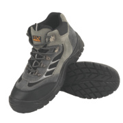 Worksite Industrial Wear Hiker Safety Boots Grey Size 11