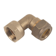 Bent Tap Connector 15mm x ½