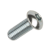 BZP Button Head Socket Screws M8 x 20mm Pack of 50