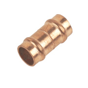 Solder Ring Straight Couplers 8mm Pack of 2