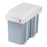 Hailo Multi Box Household Bins White/Grey 2 x 15Ltr
