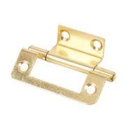 Double Cranked Hinge Electro Brass 35 x 50mm Pack of 20