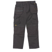DeWalt Pro Heavyweight Canvas Work Trousers Black 40