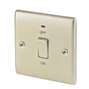 British General 20A DP Switch with LED Pearl Nickel