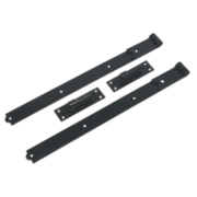Gate Hinge Black 50 x 610 x 165mm