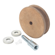 Record Power Profiled Leather Honing Wheel 100mm