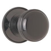 Jedo Porcelain Mortice Knob Pack Black Nickel 60mm