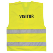 Hi-Vis Visitors Waistcoat Yellow Small / Medium 36-41