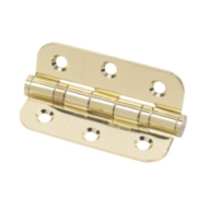 Eclipse Radius Ball Bearing Hinge Electro Brass 76 x 51mm Pk2
