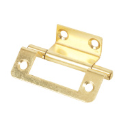 Double Cranked Hinge Electro Brass 35 x 50mm Pack of 2