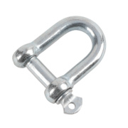 Hardware Solutions D-Shackle Zinc-Plated Pack of 10