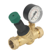 Honeywell Pressure Reducing Valve with Gauge 22mm