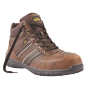 Site Grit Safety Boots Brown Size 12