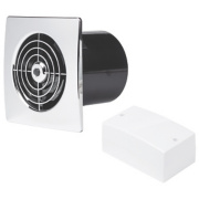 Manrose LP100SLVC 20W Low Profile Bathroom Fan