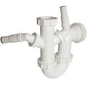 FloPlast TW477 Dual Sink & Wash Trap 40mm