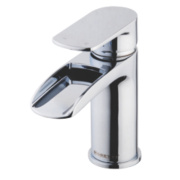 Moretti Cascata Basin Mono Mixer Bathroom Tap with Click Waste Chrome