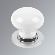 Jedo Porcelain Mortice Knob Pack White & Chrome mm
