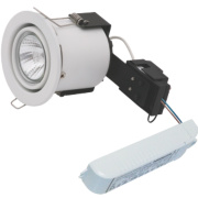 Sylvania Adjustable Round LV Fire Rated Downlight Contractor Pack White 12V