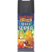 Plasti-Kote Super Multipurpose Spray Paint Matt Black 400ml