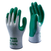Showa Best 350R Thorn-Master Nitrile Gloves Green Large