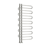 Reina Wave Vertical Designer Radiator Chrome 1000 x 500mm 733BTU