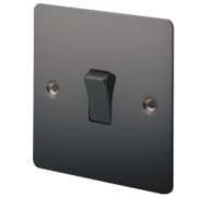 LAP 1-Gang 2-Way 10AX Light Switch Black Nickel
