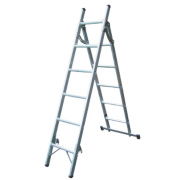 Lyte SFL3W Aluminium 2-Section Combination Ladder 6 + 5 Rungs 2.59m