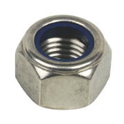 Nylon Lock Nuts A2 Stainless Steel Pack of 10