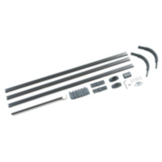 4-Way Shower Curtain Rail Kit Silver Effect 800 x 800mm