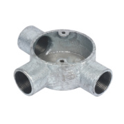 25mm 3 Way Galvanised Conduit Box