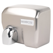 Manrose MAN/E-88ACS Automatic Hand Dryer Satin Chrome 2.4kW