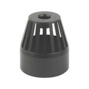 FloPlast SP302CI Cast Iron Effect Vent Terminal 110mm Black