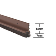 Stormguard Door & Window Strips Brown 1050mm