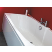 Modern Twin-Ended Bath Acrylic 2 Tap Hole 1700mm