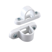 Tower Spacer Bar Saddles 20mm White Pack of 2