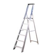 Lyte Platform Ladder Aluminium 7 Treads 2.13m